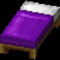 紫色のベッド画像