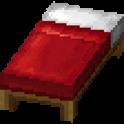 赤色のベッド画像