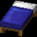 青色のベッド画像