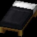 黒色のベッド画像