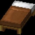 茶色のベッド画像