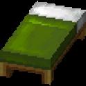 緑色のベッド画像