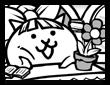 窓辺の乙女ネコ画像