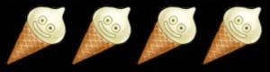 4人バニラスライムアイス