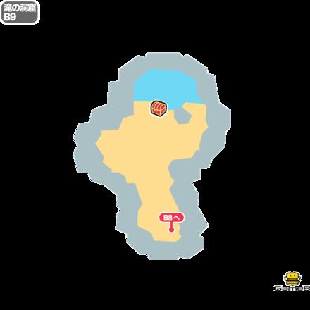 ドラクエ5の滝の洞窟のB9