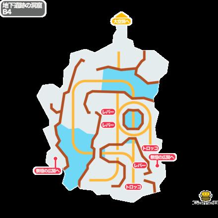 ドラクエ5の地下遺跡の洞窟のB4