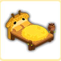 干し草のベッドの画像
