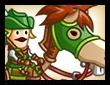森の騎馬兵の画像