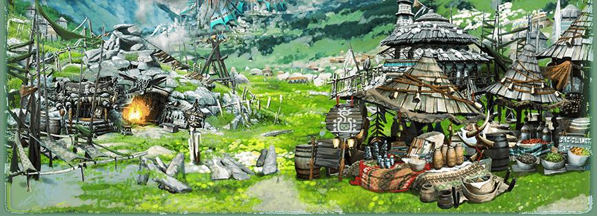 ベルナ村の屋台の画像