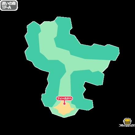 ドラクエ5の迷いの森の1F-A
