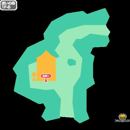 ドラクエ5の迷いの森の1F-B