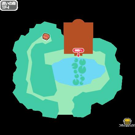 ドラクエ5の迷いの森の1F-I
