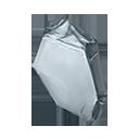 銀白の結晶塊の画像