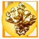 黄金の極結晶の画像