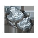 銀白の結晶の画像