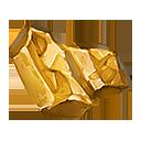 黄金の結晶塊の画像