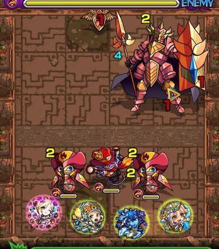 獄炎の神殿・修羅場2 ステージ1