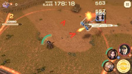サンジャス 戦闘画面