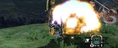 爆発させてるハンターの画像