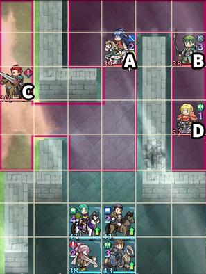 縛鎖の第12迷宮:第5ステージのマップ画像