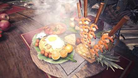 納涼の宴の特別定食の画像
