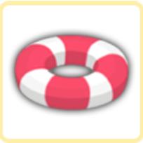 浮き輪・ストライプの画像
