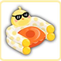 饅頭エアソファの画像