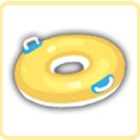 浮き輪・イエローの画像