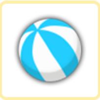 ウォーターボール・青の画像