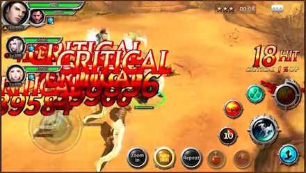レガシーオブアトランティス ゲーム画面