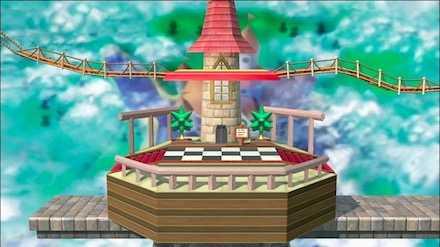 ピーチ城上空の画像
