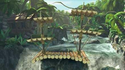 いかだと滝の画像