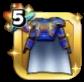 ブルーメタルの鎧上