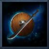 兵装古銅盾