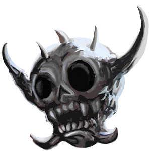 蠅王の髑髏の画像