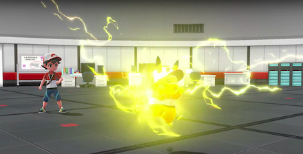 着せ替えたポケモンの戦闘画像