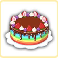 虹のチョコケーキの画像