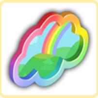 虹色の窓の画像