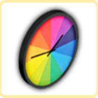 虹の時計の画像