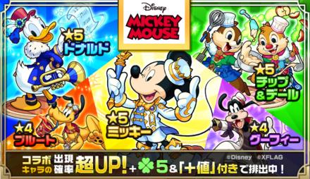 【モンスト】ミッキーマウスコラボのガチャシミュレーターのサムネイル