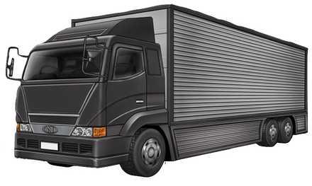 トラック【黒】の画像