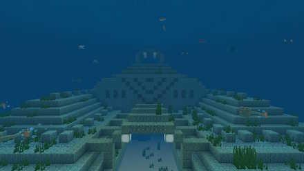 海底神殿近く