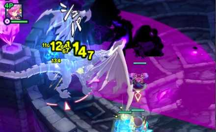 敵の紫攻撃