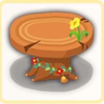 森のテーブルの画像