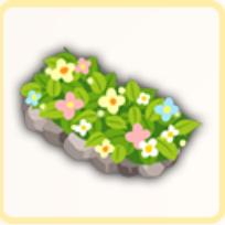 石造りの花壇の画像