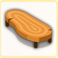 ウッデンテーブルの画像