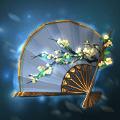 照月梨花扇の画像