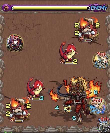 火の獣神竜を求めてステージ2攻略召喚後.jpg