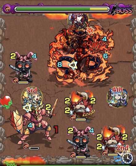 火の獣神竜を求めてボスステージ2攻略召喚後.jpg
