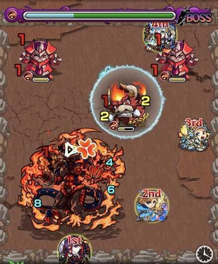 火の獣神竜を求めてボスステージ1攻略召喚後.jpg